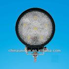 12-28v DC,12w 1350lm Led work light ,aluminum housing,acrylic lens