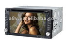 Double din 6.5 inch touch screen car dvd with GPS IPOD USB SD