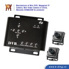 2 Channel Car Camera CCTV DVR Camera System D1 720*576 Motion Detection Support 32GB SD Card