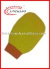 yellow car wash mitt SC-208