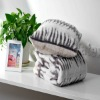 printed faux fur cushion
