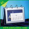 Acrylic printable Calendar 2013 desktop plexiglass calendar PMMA calendar Manufacturer