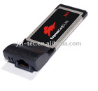 ExpressCard to Gigabit Ethernet Network LAN Card Support window XP 64-bit/Vista/7 (chipset:Marvell 88e8053)