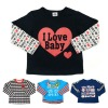 kids' cotton long sleeve t shirts children's clothes baby's clothing