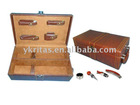 Pu Wine Box With 4pcs Accessories And 2 Bottles
