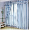 The Mediterranean Sea blue stripes double curtains