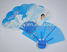 2012 hot sale promotional gifts PP fan with high quality