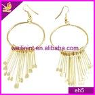 hot style golden alloy dangling earrings