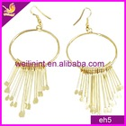 hot style golden alloy dangling earrings