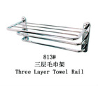 wall mounted three layer stainless steel towel rack,towel rail