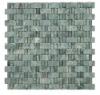 Decorative Stone veneer Green Jade mosaic stone panels