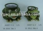 ceramic frog water pot garden frog garden animal decoration