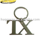 2012 professional nickel plated Metal keychain