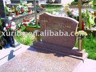 Granite gravestone red color