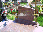 Granite gravestone red color