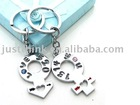 Promotional lovers' key chain FZ-JC-0129