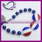 American Flag Color Beaded Bracelet