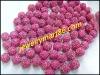 pink cz rhinestone shamballa pave beads WB09-2