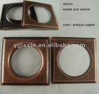 40mm square metal curtain eyelet ring