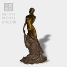 European style bronze woman statue