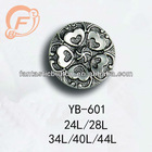 engraved flower fashion shank abs plastic button