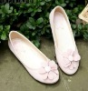 Vogue Pink Simple Flower Women Flat Shoes US4.5-8.5