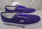 2012 hot sales han edition man canvas shoes round head with low sneakers purple casual shoes