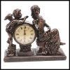 Resin bronze-like decorative desk clock