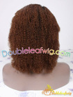T color afro curl human hair glueless full lace wig