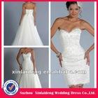 YW-12061477 Blush Pink Organza Ruffle Skirt Wedding Dress