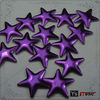 Purple Metal Studs Star Hot Fix Nailheads