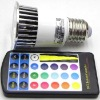 Hot-selling e27 led rgb bulb with remote controler