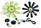 fan and belt tensioner for truck and trailer