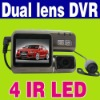 Dual lens 120 Degree Car Vehicle Camera DVR Recorder Black Box