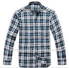 fashion mens heavy cotton plaids shirts