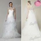 New Arrival Sweetheart A-line Floor length ruffle waist Net/Tulle sexy short elie saab dresses for sale wedding dresses 2013