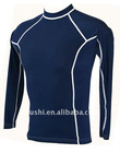 UV Mens Swim Shirt - Long Sleeve Rash Vest Navy