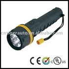 Rubber plastic torch with 3 x D dry batteries
