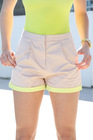 Beige Pop Shorts HGS614
