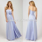 BD-092 Silky satin floor length ruched waist patterns for bridesmaids dresses
