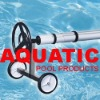 In ground pool stainless steel cover reel