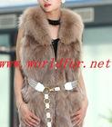 BY-HN-G033 Fashion Waistcoat for Women, fox fur