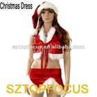 Fluffy Red Dance Costume Christmas Skirt Dress