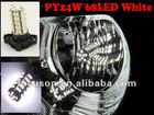 PY24W 5200s PY24WY led bulb / Front Turn Signal Canbus 68 SMD E90 F25