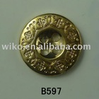 gold of plating plastic fake for metal button