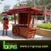 Wooden Food Mall Kiosk Cart Outdoor
