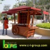 Wooden Food Mall Kiosk Cart Outdoor