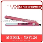 Float plate hair straightener with konb temperature adjustor