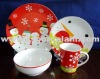 Christmas theme design porcelain dinnerware set