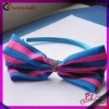 Factory supplier fashion fabric plastic hair clips for girls
